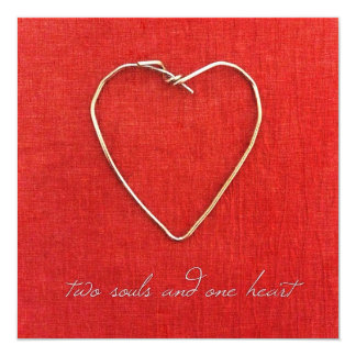 Two Souls, One Heart 5.25x5.25 Square Paper Invitation Card