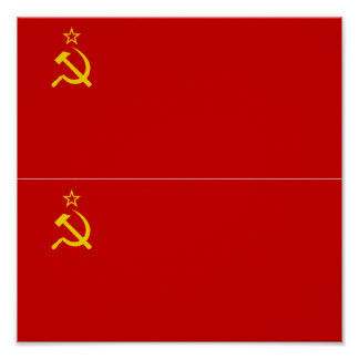 TWO Soviet Union Flag Poster