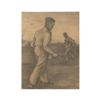 Two Sowers The Hague, December 1882 Vincent van Go Wood Poster