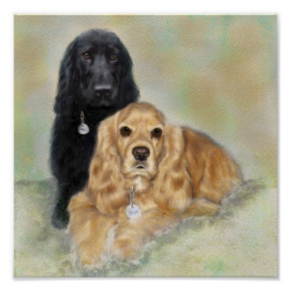 Two Spaniels Poster