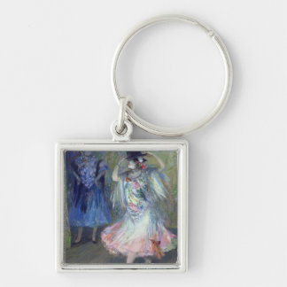 Two Spanish Dancers, 1852 Silver-Colored Square Keychain