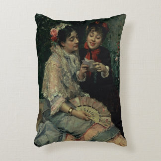 Two Spanish Women Accent Pillow