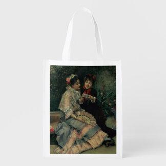 Two Spanish Women Reusable Grocery Bag