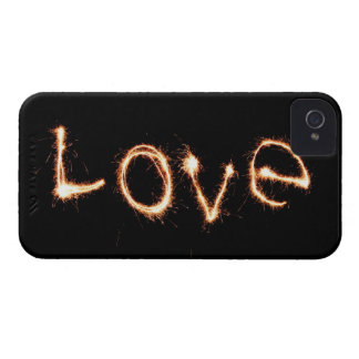 Two Sparkler Hearts Case-Mate iPhone 4 Case