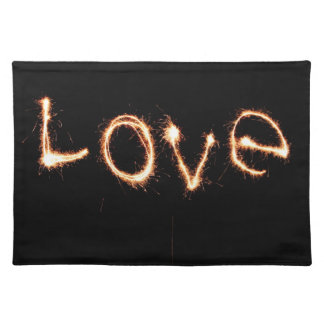 Two Sparkler Hearts Placemat