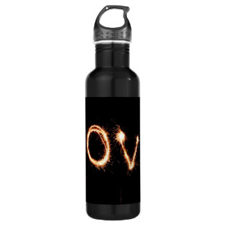Two Sparkler Hearts Stainless Steel Water Bottle