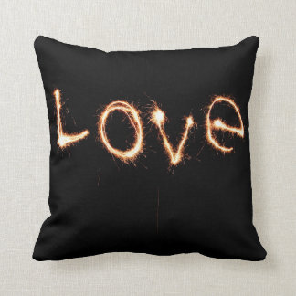 Two Sparkler Hearts Throw Pillow