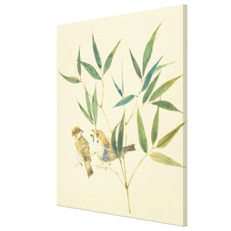 Two Sparrows Stretched Canvas Print