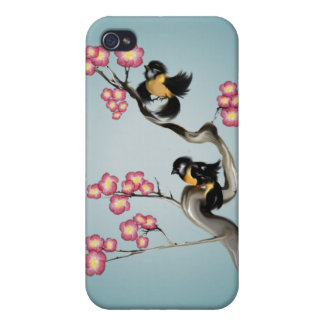 Two Sparrows Hard Shell iPhone 4/4S Cover