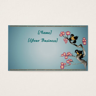 Two Sparrows On A Branch Profile Business Card