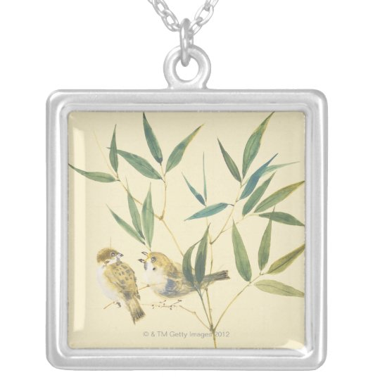 Two Sparrows Silver Plated Necklace