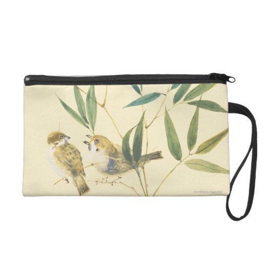 Two Sparrows Wristlet Purse
