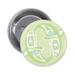 Two Spinning Whales Pinback Buttons