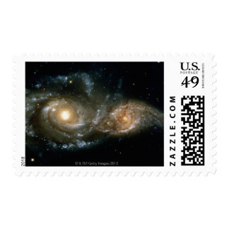 Two Spiral Galaxies 2 Postage Stamps
