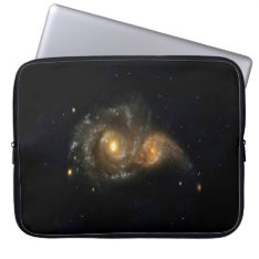 Two Spiral Galaxies Collide Neoprene Sleeve 15