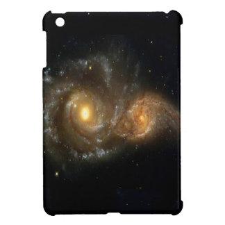 Two Spiral Galaxies Collide on iPad Mini Case