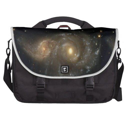 Two Spiral Galaxies Collide Rickshaw Commuter Bag Commuter Bag