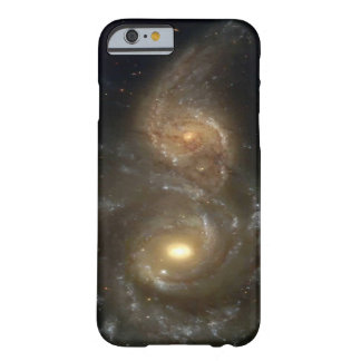 Two Spiral Galaxies Colliding Barely There iPhone 6 Case