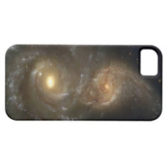 Two Spiral Galaxies Colliding On Iphone 5 Case at Zazzle
