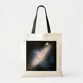 Two Spiral Galaxies Overlap Galaxy Print Space Sky Tote Bag