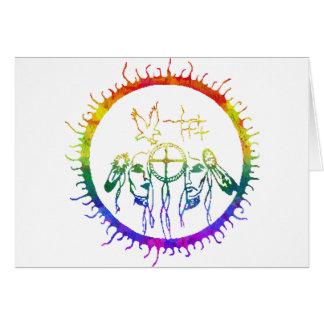 Two-Spirit Earth Design Greeting Card