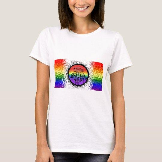Two Spirit Flag Glass Design T-Shirt