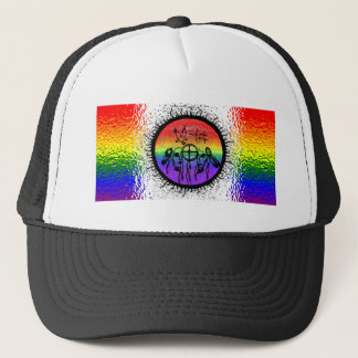 Two Spirit Flag Glass Design Trucker Hat