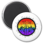 Two-Spirit Mountain Scape 2 Inch Round Magnet