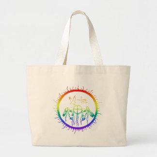 Two-Spirit Rainbow Large Tote Bag