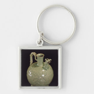 Two spouted jug with a leaf design keychain
