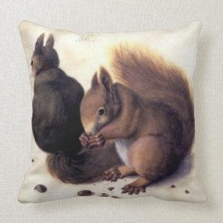 'Two Squirrels' by Albrecht Dürer Throw Pillow