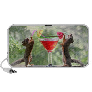 Two Squirrels Drinking a Cocktail Travel Speaker