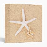 """Two Starfish 1"""" Photo Album 3 Ring Binder"""