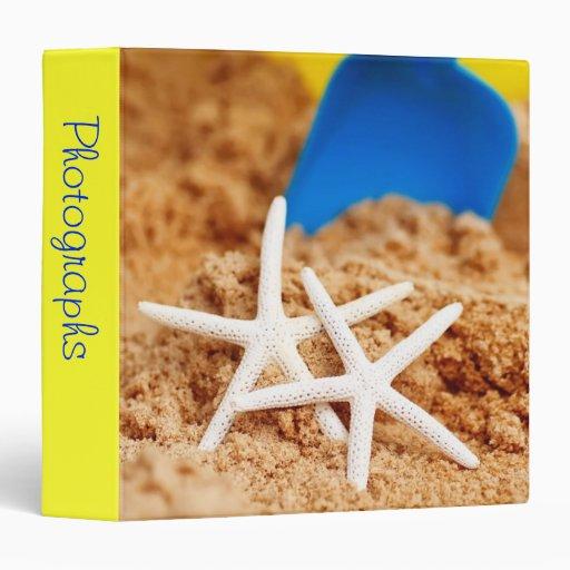 """Two Starfish at the Beach 1.5"""" Photo Album Binder"""