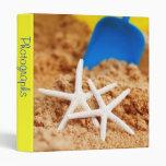 """Two Starfish at the Beach 1"""" Photo Album Vinyl Binder"""