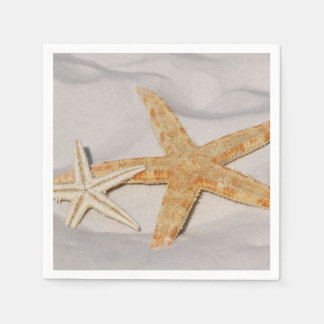 Two Starfish in the Sand Napkin