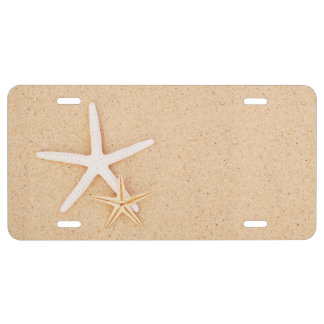 Two Starfish License Plate
