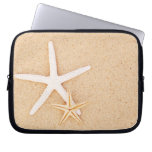 Two Starfish on a Beach Laptop Computer Sleeves