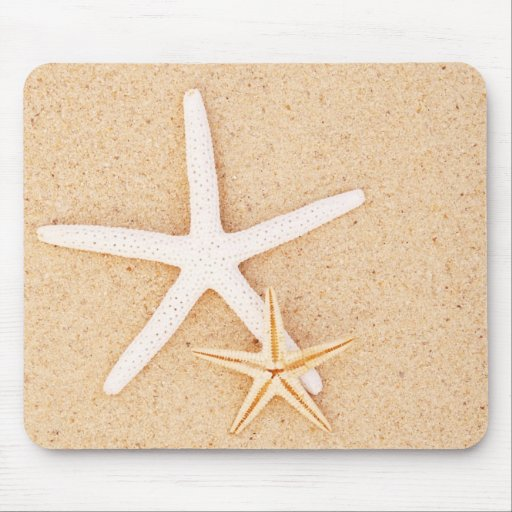 Two Starfish on a Beach Mouse Pad