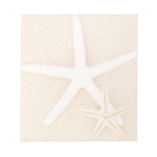 Two Starfish on a Beach Note Pad