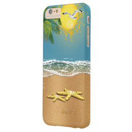 Two Starfish On The Beach Barely There iPhone 6 Plus Case