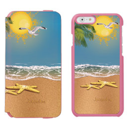 Two Starfish On The Beach iPhone 6/6s Wallet Case