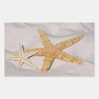 Two Starfish  Rectangular Stickers