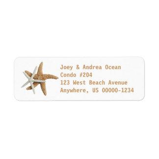 Two Starfish Sea Life Custom Label