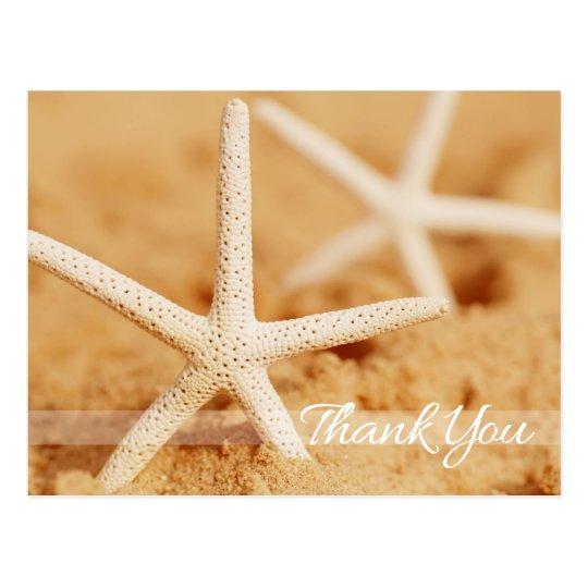 Two Starfish Thank You Postcard