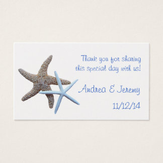 Two Starfish Wedding Reception Favor Tags