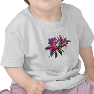 Two Stargazer Lilies in Sunshine Kids Tshirt