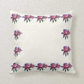 Two Stargazer Lilies in Sunshine Throw Pillow