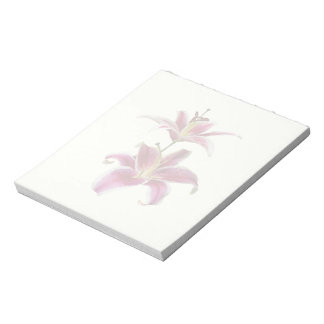 Two Stargazer Lilies Note Pads