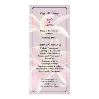 Two Stargazer Lilies Wedding Program